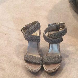 Stuart Weitzman woven platform sandals